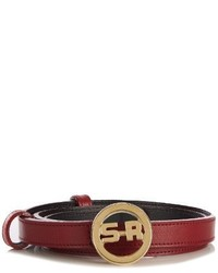 Sonia Rykiel Logo Leather Belt
