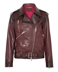 Givenchy Oversized Textured Leather Biker Jacket