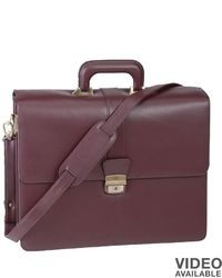 Burgundy Leather Briefcase