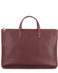 Toledo leather briefcase oxblood medium 142370