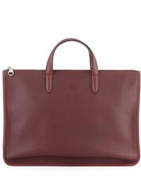 Toledo leather briefcase oxblood medium 142370