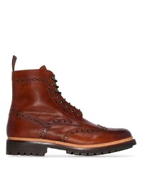 Grenson Fred Hand Printed Leather Ankle Boots