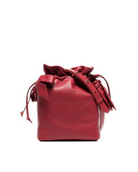 Simone Rocha Red Bow Appliqu Leather Bucket Bag