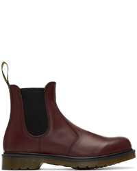 Burgundy Leather Chelsea Boots