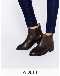 About time wide fit leather chelsea boots medium 780909