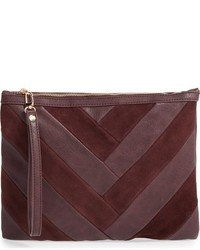 Sole Society Shery Zip Pouch Red