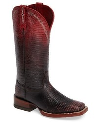 Burgundy Leather Cowboy Boots