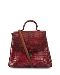 Cherevichkiotvichki Crocodile Leather Contrast Bag