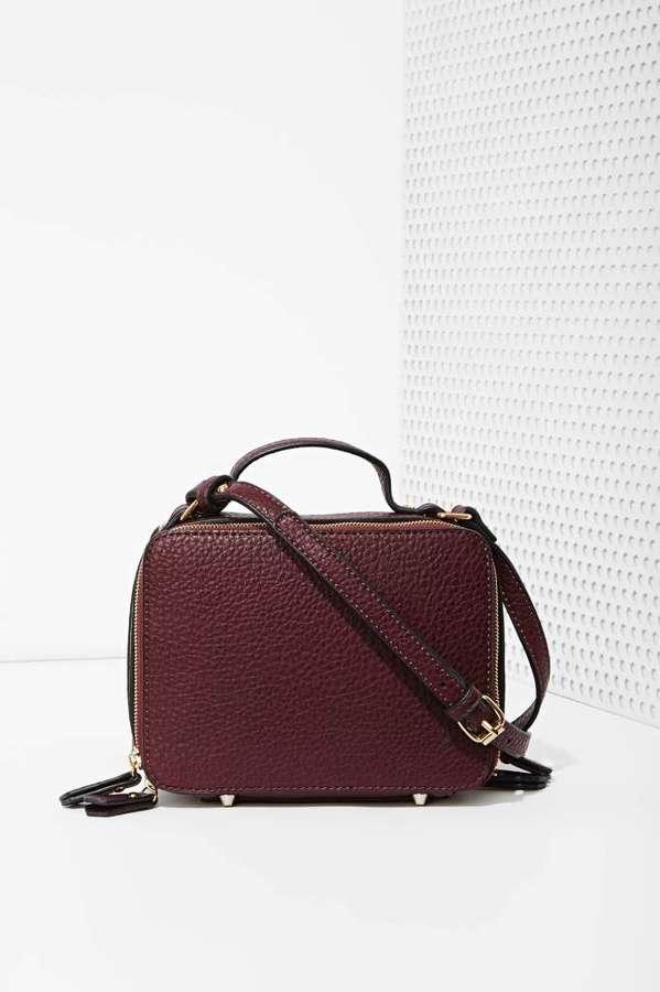 1cf57fbc5282 Boxed Out Vegan Leather Crossbody Bag. Burgundy Leather Crossbody Bag by Nasty  Gal