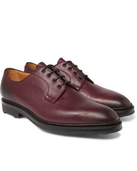 Edward Green Caudale Textured Leather Derby Shoes