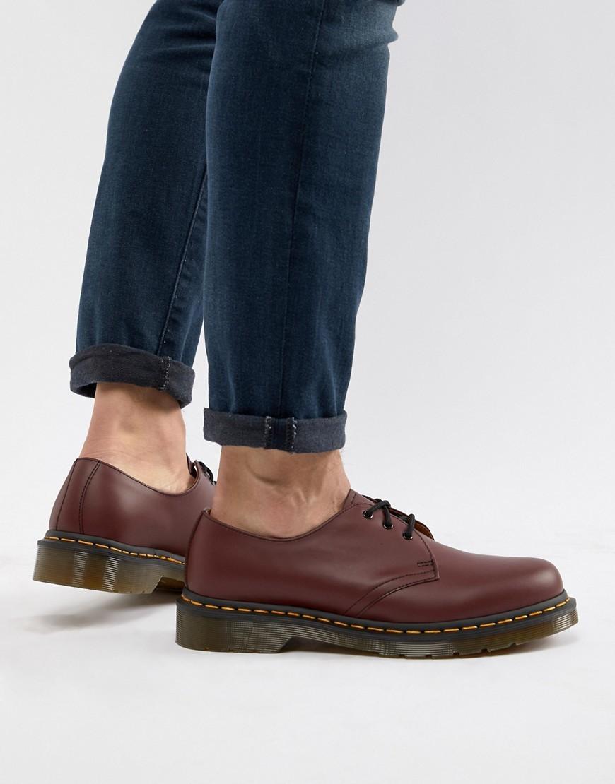 Dr. Martens Dr Martens Original 3 Eye Shoes In Red 11838600