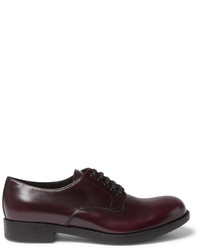 Spazzolato leather derby shoes medium 800704