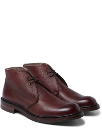 Cheaney Wool Lined Pebble Grain Leather Chukka Boots