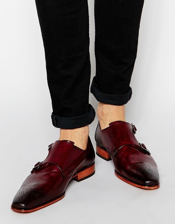 Jeffery Ouest Sylvian Doubles Chaussures En Daim Moine - Noir 7bu2PN9