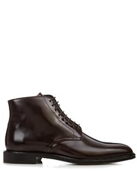 Burberry Shoes Accessories Lace Up High Shine Leather Boots