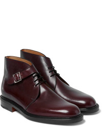 John Lobb Combe Buckled Leather Boots