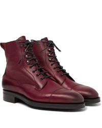 Edward Green Galway Cap Toe Textured Leather Boots