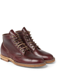 Viberg Leather Lace Up Boots