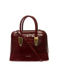 Embossed leather small bowling bag medium 95797