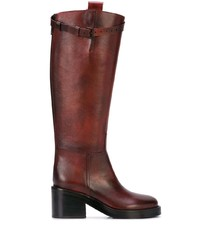 Ann Demeulemeester Burnished Riding Boots