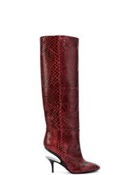 Maison Margiela Cut Out Heel Knee High Boots