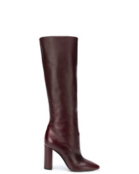 Saint Laurent Pull On Knee Length Boots