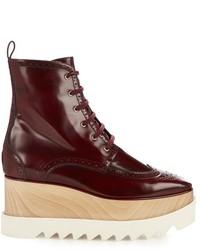 Stella McCartney Elyse Lace Up Platform Brogue Boots