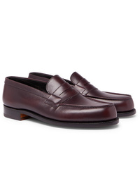 J.M. Weston 180 The Moccasin Burnished Leather Penny Loafers