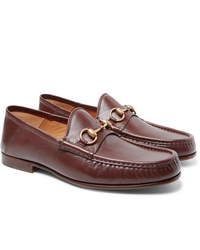Gucci Easy Roos Horsebit Collapsible Heel Leather Loafers
