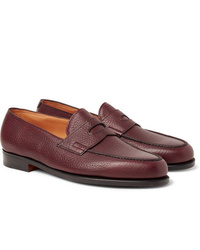 John Lobb Lopez Full Grain Leather Penny Loafers