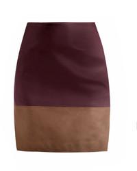 Bi colour leather skirt medium 154089