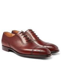 George Cleverley Adam Cap Toe Burnished Leather Oxford Brogues
