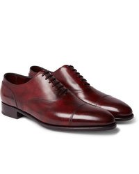John Lobb Alford Museum Burnished Leather Cap Toe Oxford Shoes