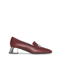 Burberry Studded Bar Detail Leather Pumps