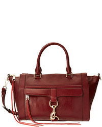 Burgundy Leather Satchel Bag