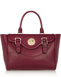 Hill & Friends Happy Satchel Leather Tote Burgundy