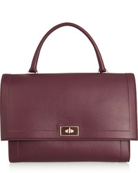 Medium shark bag in burgundy textured leather medium 440259