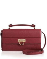 Salvatore Ferragamo Ably Burgundy Cross Body Bag