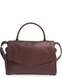 Treasurebond leather satchel burgundy medium 859963