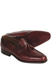 Burgundy Leather Tassel Loafers