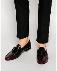Asos Brand Tassel Loafers In Leather