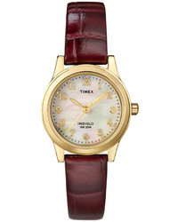 Burgundy Leather Watch