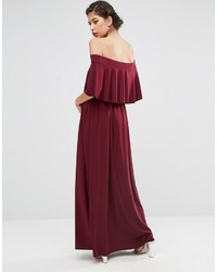 355dc52fee6 Asos Wedding Off Shoulder Frill Maxi Dress, £55 | Asos | Lookastic UK