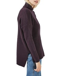 Topshop Oversized Funnel Neck Sweater