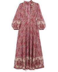 Burgundy Paisley Maxi Dress