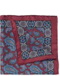 Drakes paisley silk pocket square medium 321621
