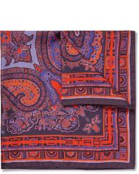 Paisley print silk pocket square medium 321614