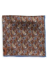 Robert Talbott Paisley Silk Pocket Square