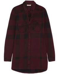 Burberry Brit Checked Cotton Blend Shirt