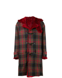 Kenzo Vintage Reversible Oversized Tartan Coat
